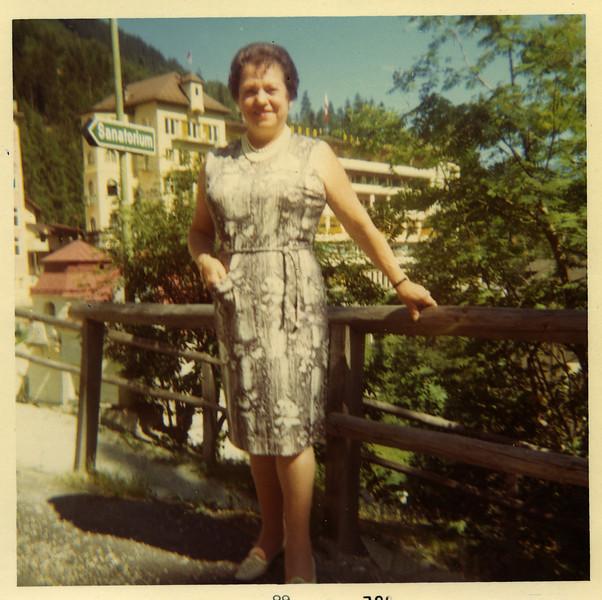 Selma Adler in Bad Gastein (mid 1960s)