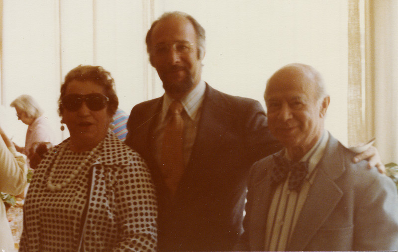 Selma Adler with cousin Emil Hamburger, and Ronald