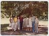 Selma (Rothschild) Adler, 80th birthday.<br /> Left to right, Naomi, Sam, Deborah, David, Sandra Kaplan, Oma, Marianne, Richard, Emil Hamburger, in Berkshires 1980 (photo by Ronald Aaron).