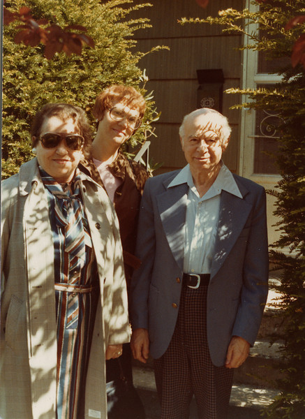 Selma Adler with cousin Emil Hamburger, and Marianne