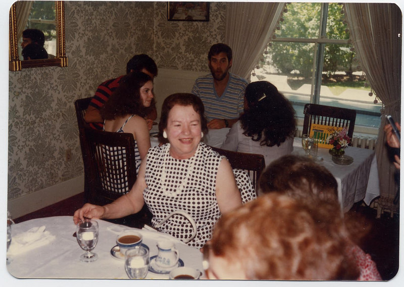 Oma's 80th birthday, the Red Lion Inn, Stockbridge, MA 1980.