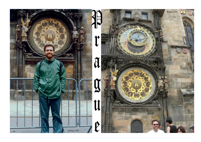 Joshua took the picture on the right, Prague August 2005.