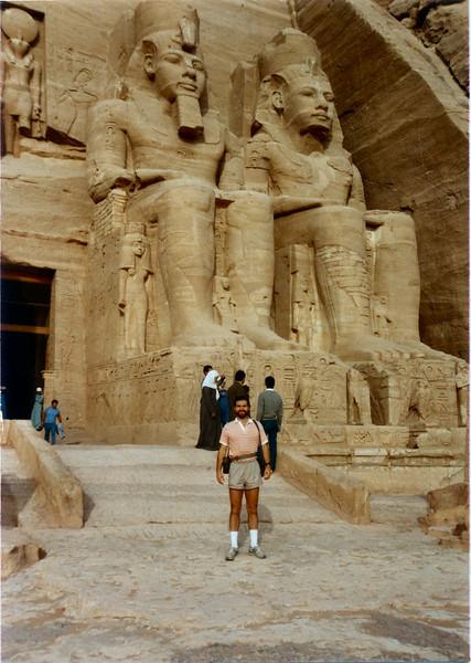 Abu Sembel, Sahara Desert December 1984--the only picture of me in Egypt.