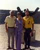 Ron, Marianne, & David, in the sculpture garden at the Israel Museum, October 1976.