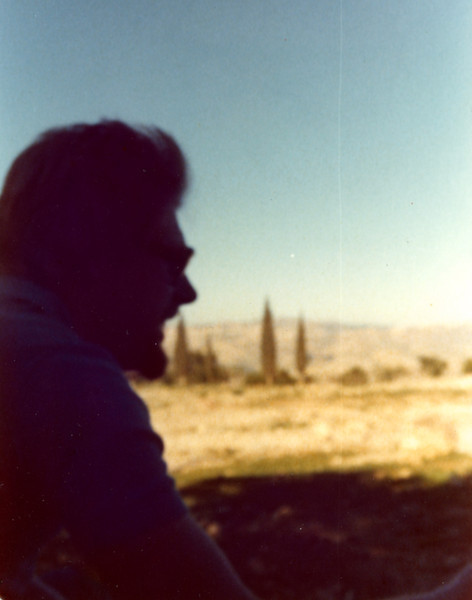 We took a number of hikes through the Judean Desert, including three that left from Jerusalem and ended by the Dead Sea. This is from our first trip with Haganat Hateva', the nature society, Fall 1976.
