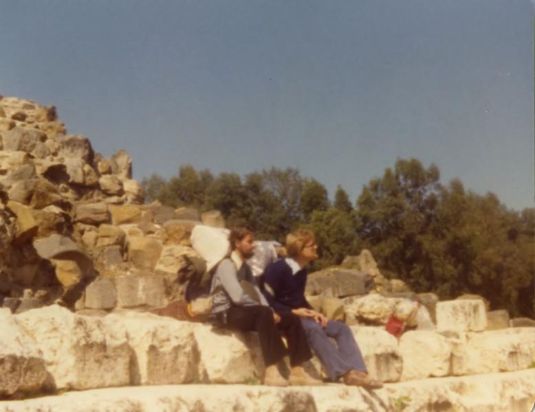 Johannes Christoph von Buehler (r) and Manfred Dreytza, Beit Shan 1977