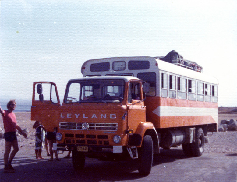 Sinai Trip...Johannes waving 1977.