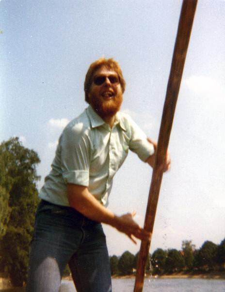 Johannes Christoph von Buehler, on the Neckar River, Tuebingen, Spring 1978