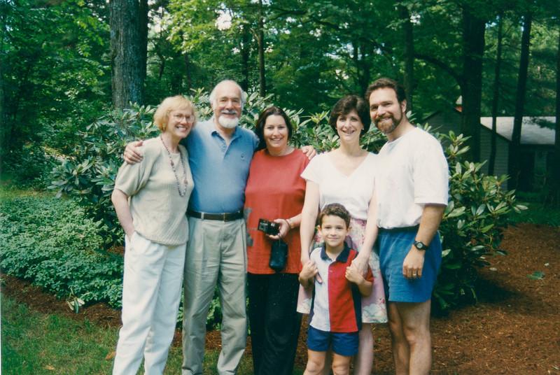 Marianne, Ronald, Edna Azrieli, Margie, David and Joshua (age 5), Wayland, MA