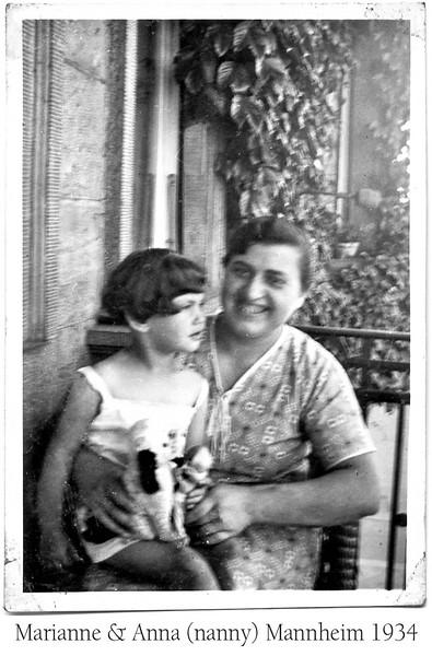 Marianne Adler and nanny, Anna, late 1934  [ArcAdler 0028]