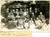 "Selma Rothschild and Hugo Adler were married Christmas day, 1924.  This photo is from a vacation, 21 August 1925, in the resort town [Bad]  016 | Wildbad (Black Forest). The custom at these ""resorts"" was to have a photograph made of all of the guests together.  The identities of the other people in this photo are therefore unknown. Selma is seated, second from left; Hugo is standing, fourth from left.  [ArcAdler 0021]"