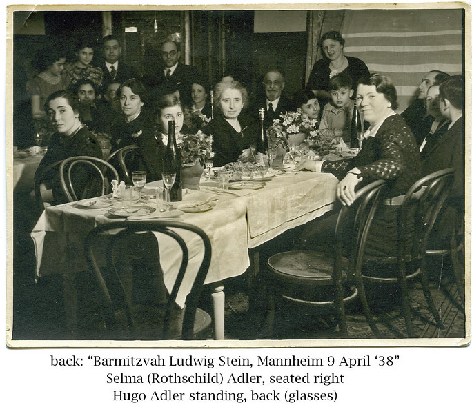 023 | The Bar Mitzvah of Ludwig Stein, with his brother Ernst next to him at the table.  In 2007, when Samuel Adler conducted the concert at the Rykestrasse Synagoge Rededication Ceremony, this Ernst Stein approached him and showed him this very same photograph.  [ArcAdler 0031]