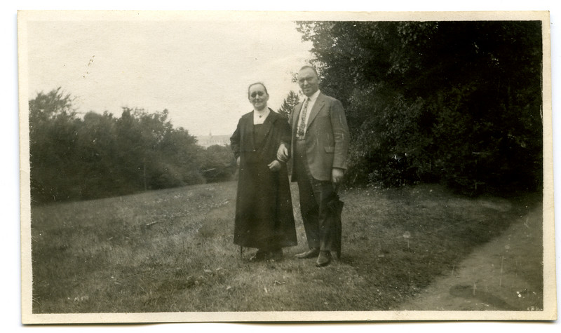 Hugo Adler with his mother, Emma Adler, probably taken around the same time as the previous photograph, 1930.    [ArcAdler 0012]