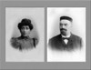 Emma Dahl and Simon Adler, probably around 1900, when they were living in Harburg, Germany (more details below). [Composite from images shown below.)  The synagogue of Harburg, at which Simon Adler would have served, was dedicated on 19 May 1863, and was at the intersection of Eissendorfer and Peterstrasse (currently called Knoopstrasse).