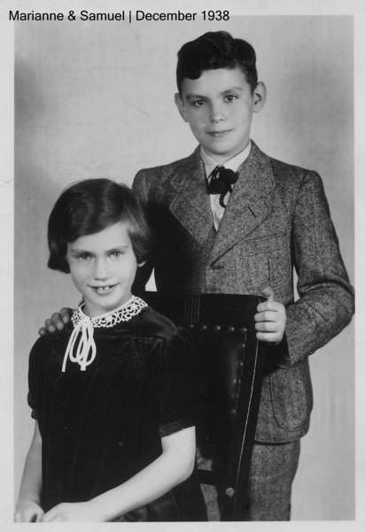 Han Samuel & Marianne Adler; last photo taken in Germany for grandparents, just prior to emigration.  The back indicates that it was given to Rosa Rothschild for her 50th birthday in 1938.  [ArcAdler 0030]