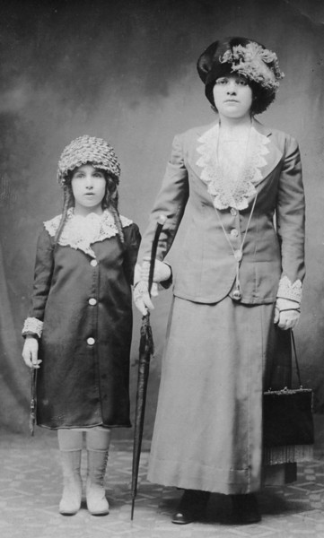 Lillian [Hurowitz] Aronowitz, Morris' daughter, with ??? [identify of woman required] [AA003]