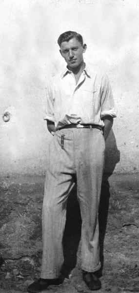 "RS038 | Kurt [""Dave""] Rothschild (b. Gerolzhofen, 3 July 1910; d. Jerusalem, 7 Oct 1994), probably taken in Gerolzhofen, c.1926. Kurt was the owner of Fink's Restaurant, on the corner of King George and HaHistadrut St. in Jerusalem (now closed)."