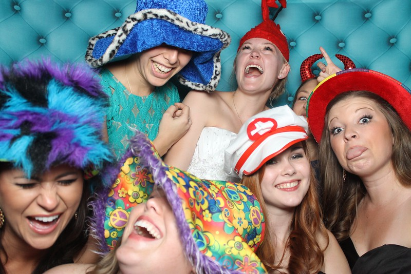 Bride and company in the photo booth 2013 Austin Lago Vista