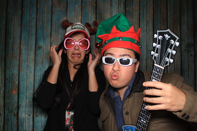 happy holidays in the photo booth 2016  austin tx