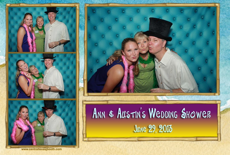 Ann & Austin Wedding shower photo booth 2013