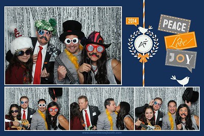 photo booth at company holiday party Texas 4455