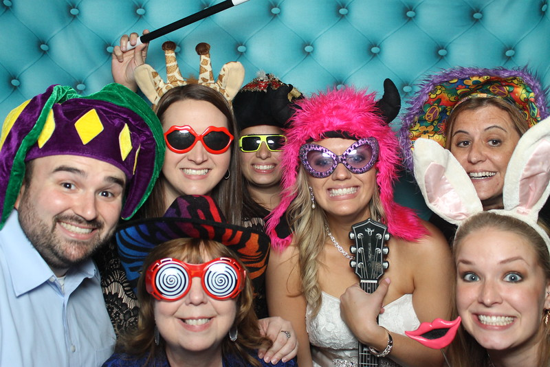 bride in photobooth College Station Wedding 2015 NYE