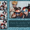 photo booth print from a Fredericksburg wedding 3