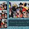 photo booth print from a Fredericksburg wedding 1