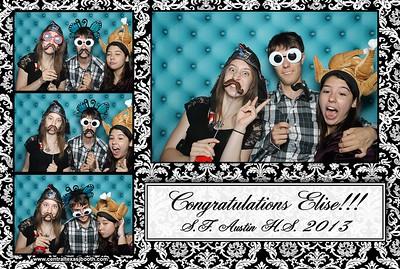 Photo Booth images Austin Graduation party