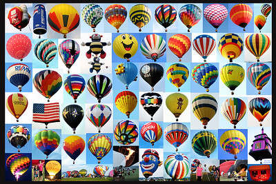 balloon border collage