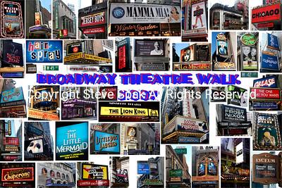 Broadway 2007 Theatre Walk Collage