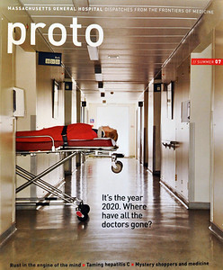 Proto medical magazine, sponsored by Massachusetts General Hospital, with publishing by Time Inc. Content Solutions. Stock agency cover photo.
