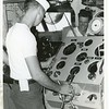 SN Ronald Edwards Manning the Oriskany Helm 1965