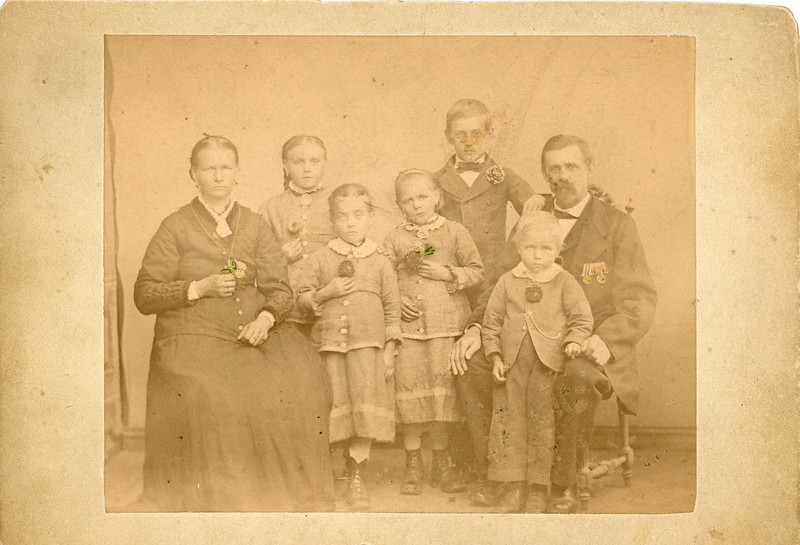 Old Family Photo from the 1800s - Before Restoration