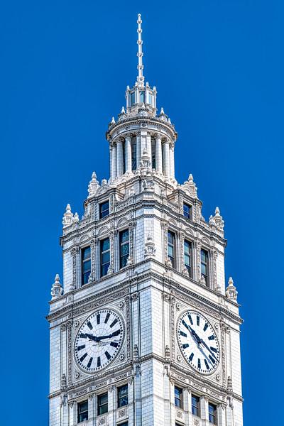 Wrigley Tower Sunny Morning 5 13 20 - John O'Neill