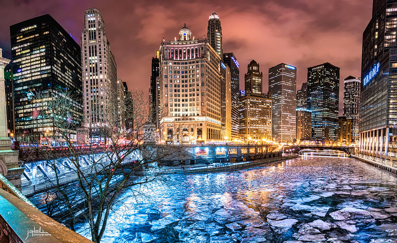 Chicago Skyline on Ice 2018 - 2021 Update WM - John O'Neill Photography