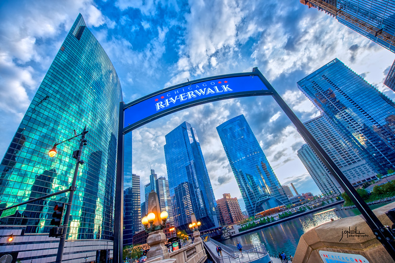 Riverwalk at Dusk WM - John O'Neill Photography