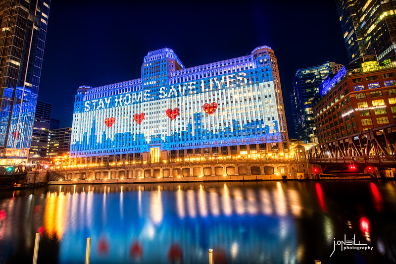 Stay Home - Save Lives V2 - John O'Neill WM
