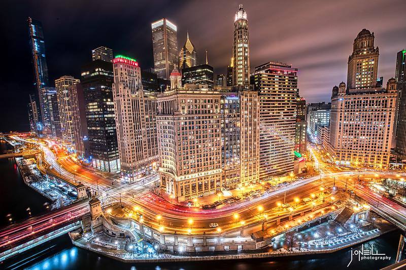 Glittering South Bank of Chicago River - John O'Neill 3 26 20 WM