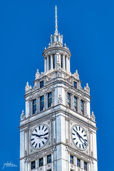 Wrigley Tower Sunny Morning WM 5 13 20 - John O'Neill