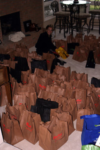 Charlie Making 100 Give Away Bags!!!!