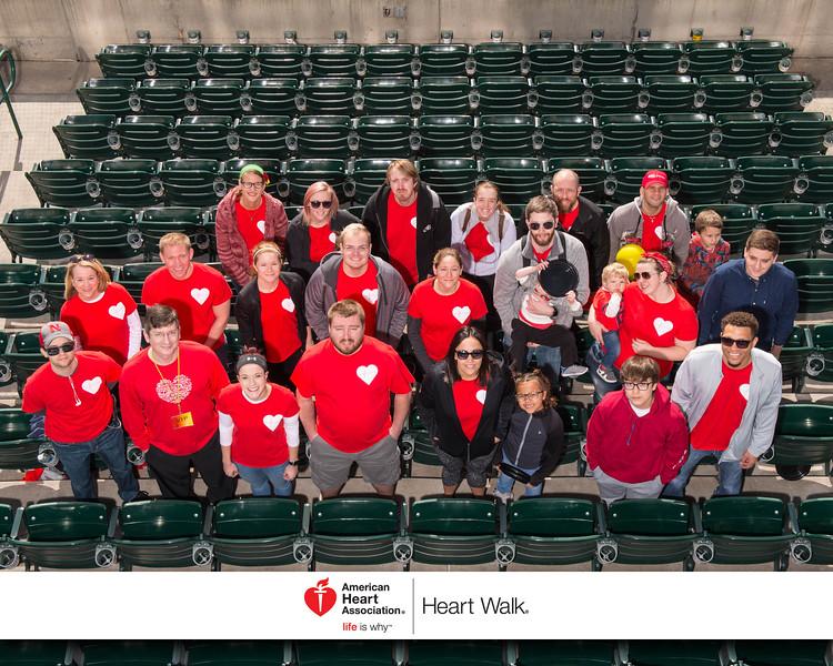 American Heart Association–Lincoln, Heart Walk 2017.  Haymarket Park, Lincoln NE.