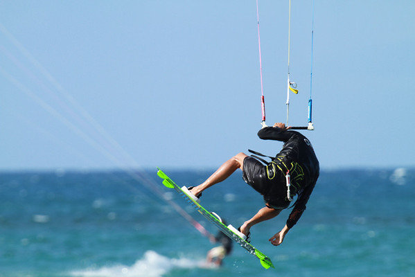 DEC 12 2012 Back at Kahana Beach Kite Boarding