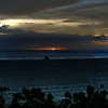 NOV 16 2012<br /> Silhouette of a shooter shooting the Makaha Beach Sunset.