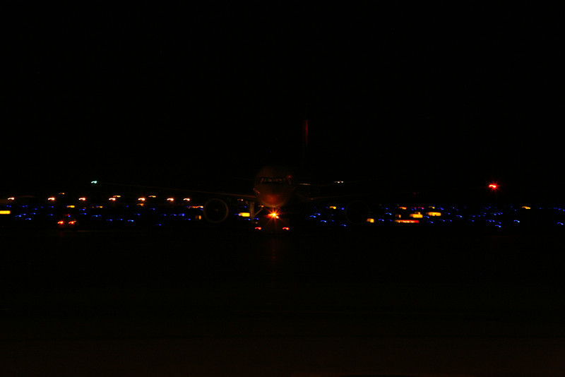 DEC 13 2012<br /> Worked all day - called back in to help the night crew, Repair a jet fuel valve gate #24<br /> Plane pushing back from the gate.