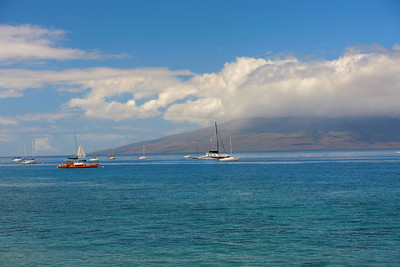 3/19/2012 Driving into Lahaina on Maui for lunch and had to shot this one from the Jeep. Lahaina Harbor Maui HI,