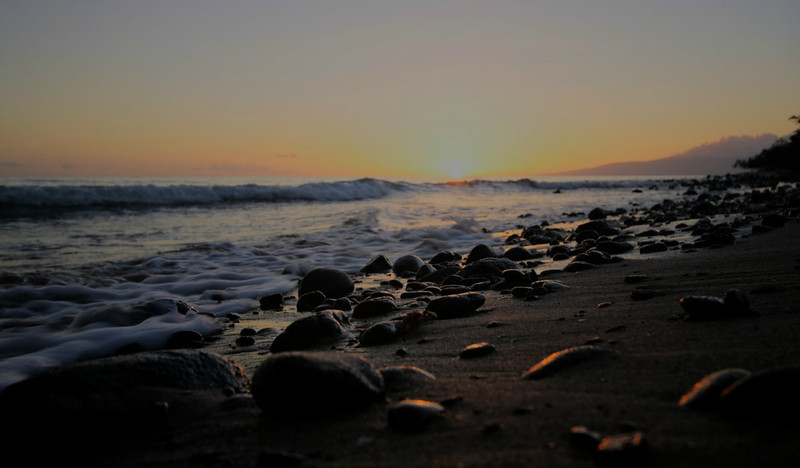 FEB 10 2013<br /> Sunset at Papalaua Beach,<br /> Maui, Hawaii