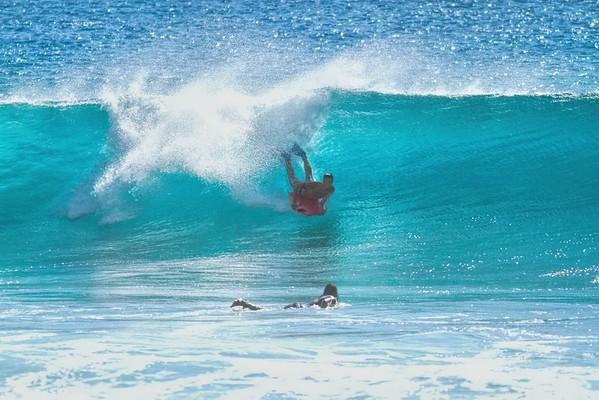 DEC 19 2014 Body Boarding, Yoke's Beach, Oahu