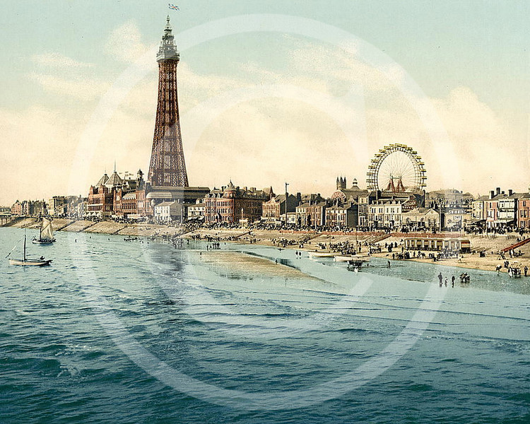 Blackpool from Central Pier, Lancashire.