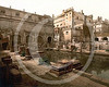 Roman Baths and Abbey, Bath, Somerset.